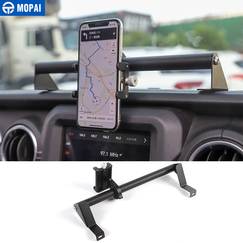 MOPAI GPS Stand Holder for Jeep Gladiator JT 2018  Car Mobile Phone Support Holder Accessories for Jeep Wrangler JL 2019