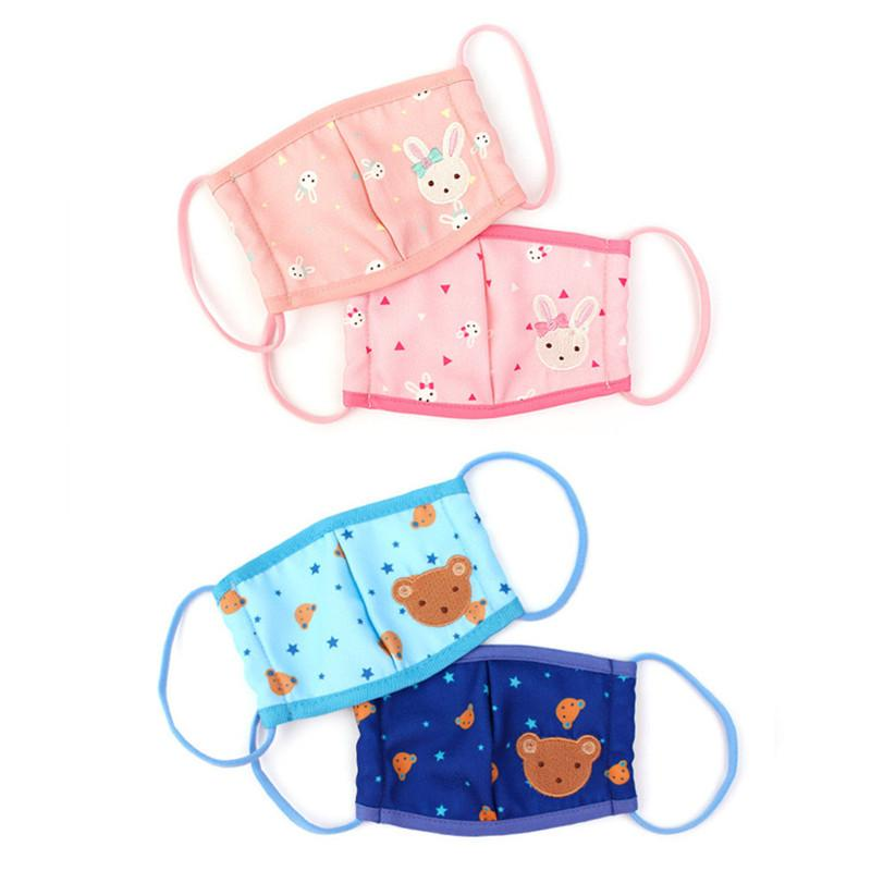 Korean WingHouse Children Mouth Mask Boy Girl Cute Cartoon Rabbit Bear Face Mask Anti-pollution Windproof Anti-dust Mouth Cover