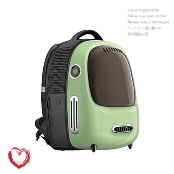 Travel Cat Handbag Space Capsule window bubble astronaut With USB lighting fan Pet Carriers Bag Carrying For Cats transportin au 1