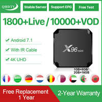 X96 Mini Android 7.1 TV Box Smart IPTV Arabic 1 Year QHDTV Code Arabic Frence Netherlands X96Mini Media Player