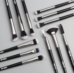 Image 2 - Ensemble de pinceaux à maquillage, pinceaux pour ombre à paupières, Eyeliner pour cils, mélange, 12 pièces/lot