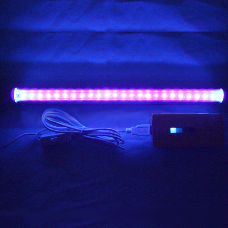 30cm 24 <font><b>LED</b></font> Germicidal Ultraviolet Lamp <font><b>UV</b></font> Light Bar for Sterilization Disinfection Bathroom Kitchen Toilet Lamp steri lamp image