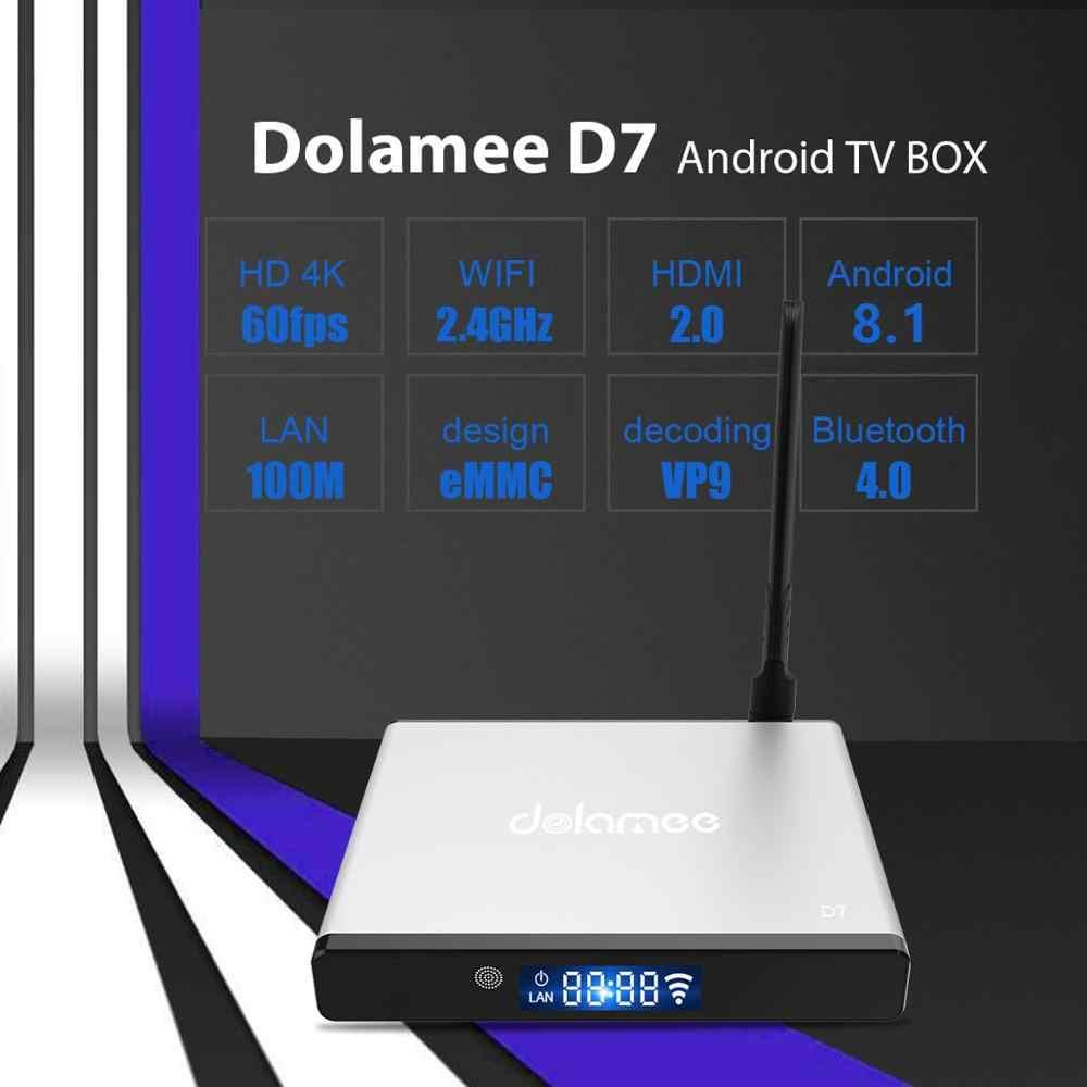 DOLAMEE D7 S905W Android 8.1 tv, pudełko LED wyświetlacz 2GB 16GB Wifi 2.4G Mali-450MP5 wsparcie 4K Super HD wideo Google Play Youtube