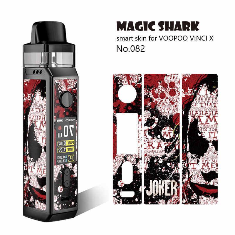 Magic shark capa de filme para voopoo vinci, fita de pvc 2,5d para dinheiro, crânio de venum, militar, 3m, dinheiro estéreo kit x pod,