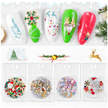 3D Nail Art Decoration Alloy Beads Santa Claus Nail Rhinestones Accessories Jewelry Tools Manicure