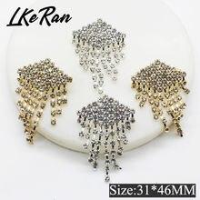 Lkeran модная брошь в богемном стиле Стразы пуговицы с кристаллами