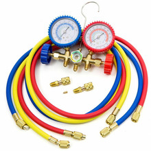 цена на R410A R22 R404A HVAC A/C Refrigeration Charging Service Manifold Gauge Set Air Conditioning Double Meter Valve Car Parts