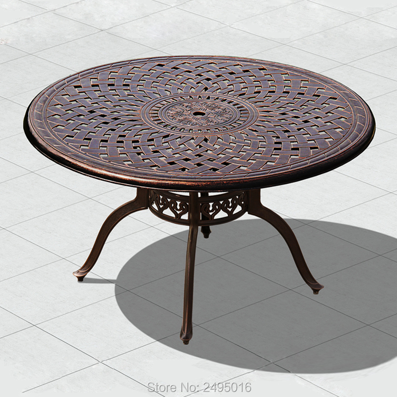 Heavy duty Cast aluminum patio dining table outdoor tables ...