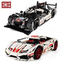 Endurance modelo de carro blocos construção cidade super corrida veículo desportivo racer tijolos diy brinquedos educativos presentes para crianças