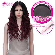Классический плюс 13*4 синтетический кружевной парик для черных