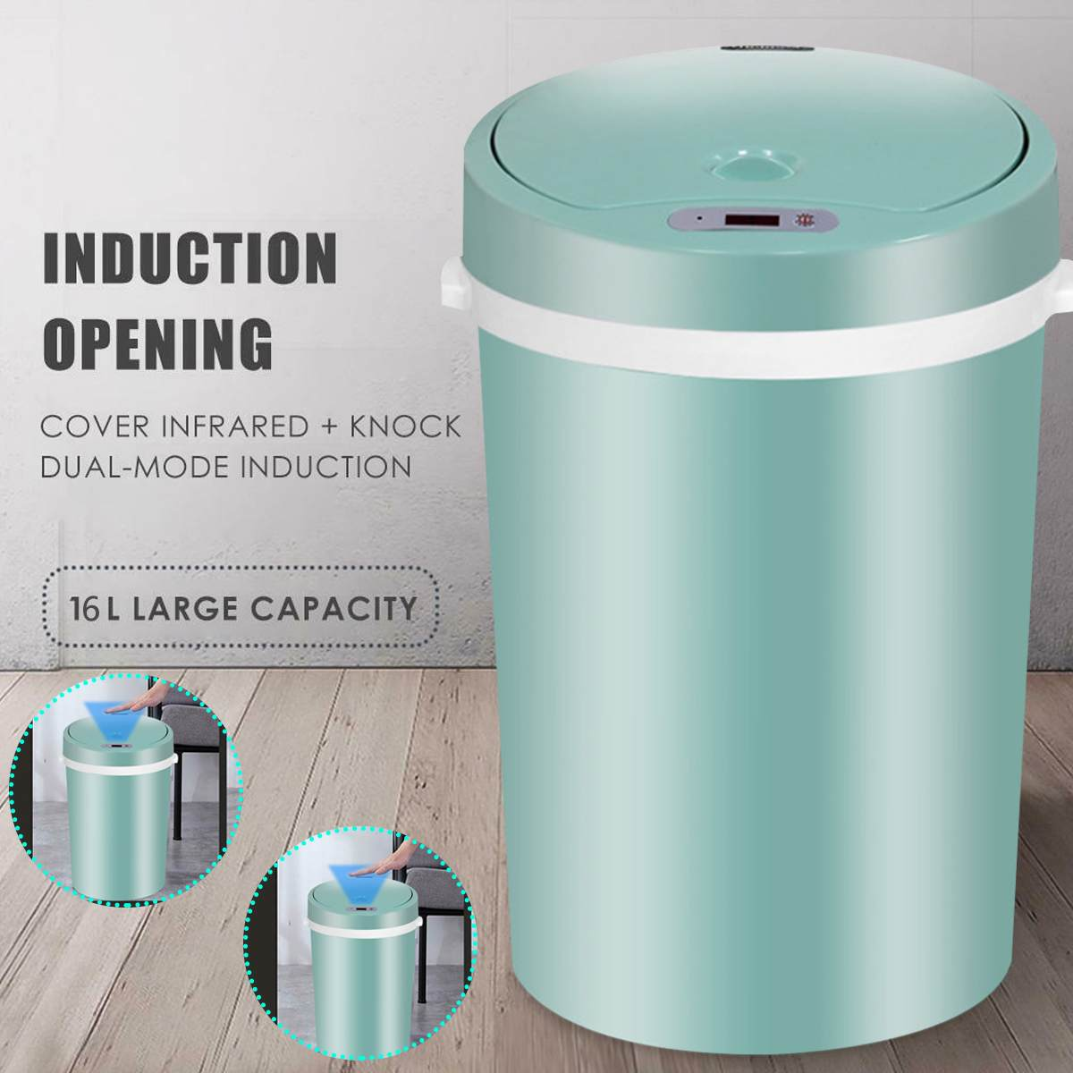 sensor plástico doméstico seco e molhado lixo bin