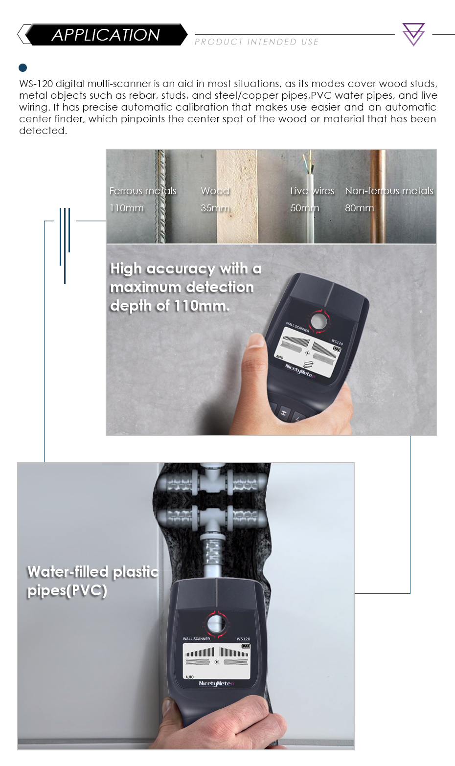 metais encontrar parede varredor cabo de madeira