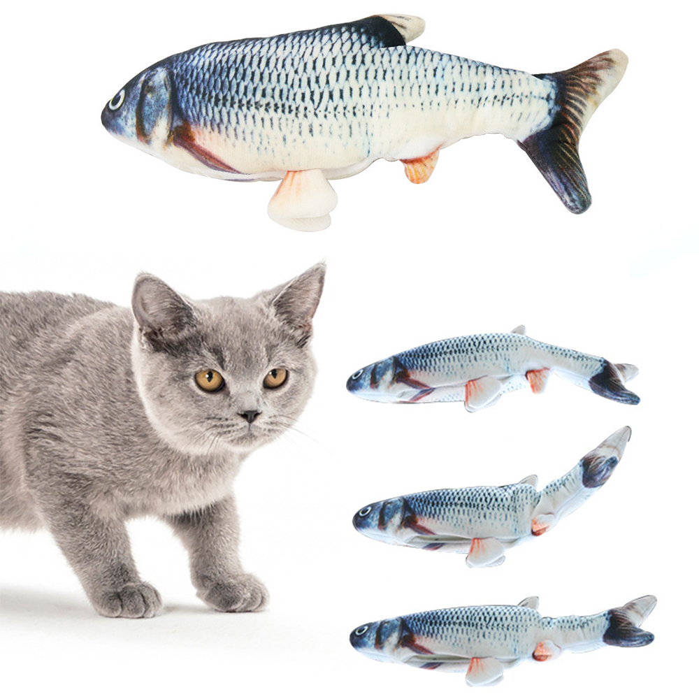 Cat Toy Funny Swing Fish USB Charging Simulation Fish Toys For Dog Cat Kitten Chewing Playing Biting Cat Supplies Pet Supplies