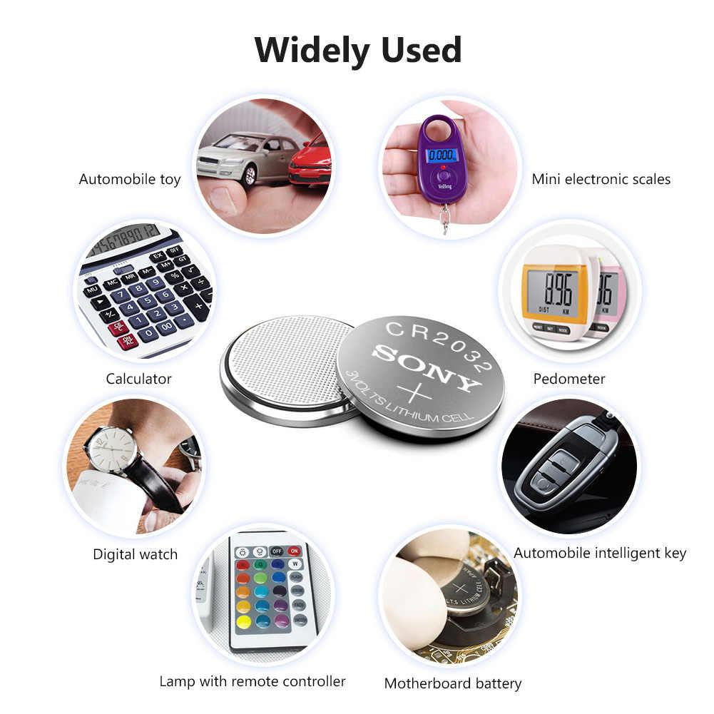 1 Batería para SONY CR2032, 3V, pilas de litio BR2032 DL2032 ECR2032 CR 2032, pila de botón para reloj, llave remota de coche