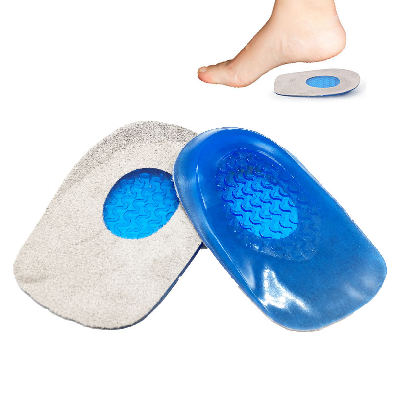 Gel Insole Silicone Heel Cushion Soles Relieve Foot Pain Protectors Spur Support Shoe Pad Feet Care Inserts For Feet Padded