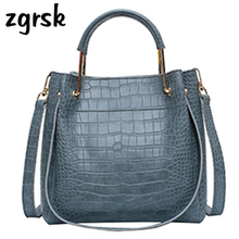 Women Bucket Handbags Famous Brand Satchel Zipper Pu Leather Purses And Red Vintage Shoulder Bag Sac Main