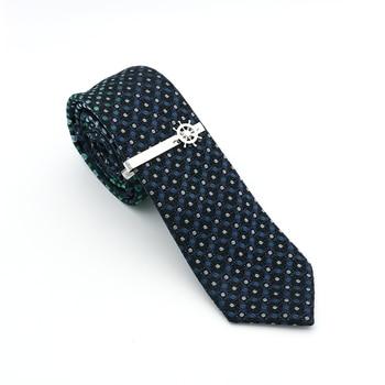 Clips de corbata para hombre con diseño a la moda, de calidad, de latón, de Color plateado, alfileres de corbata al por mayor y al por menor