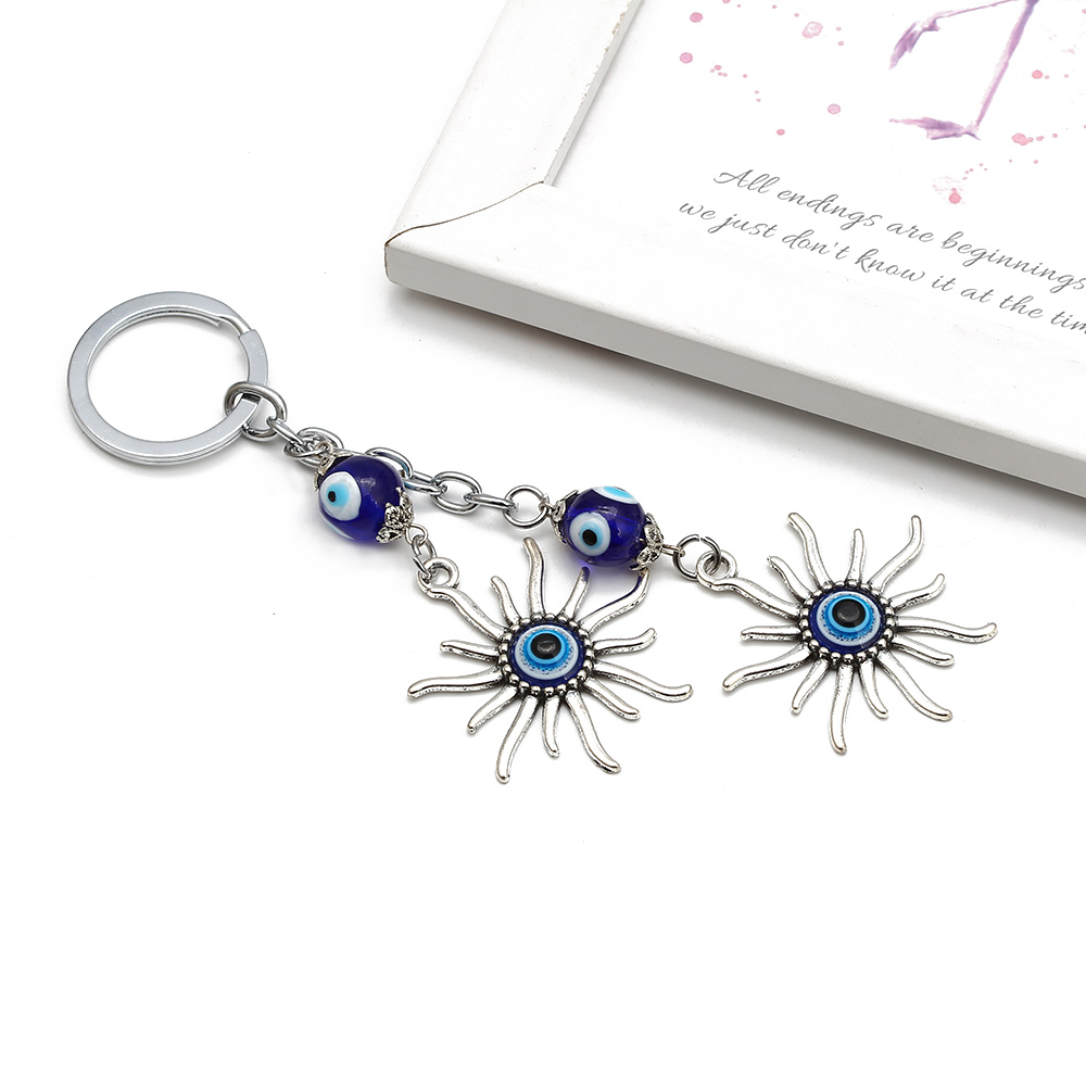 Sun Keychain Keyring Evil Eye Bead Lucky Gift Դեկորատիվ - Նորաձև զարդեր - Լուսանկար 3