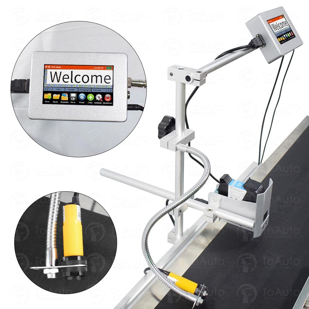 Metal Case Pipeline Split-type Inkjet Printer +Sensor+Bracket Kit, Print Height 12.7mm For Logo, Date, Barcode, QR Code Printing