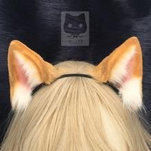 MMGG Nuovo originale lavoro fatto a mano orange gatto Neko orecchie Hairhoop per anime lolita cosplay costume accessori
