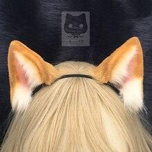 MMGG חדש מקורי בעבודת יד עבודה orange חתול Neko hairhoop עבור אנימה לוליטה קוספליי תלבושות אבזרים