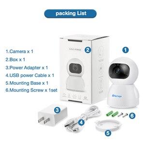 Image 5 - Techage 1080P bezprzewodowa kamera IP niania elektroniczna Baby Monitor 2MP kopułkowa wideo CCTV nadzoru dwukierunkowe Audio bezpieczeństwo w domu kamera Wifi