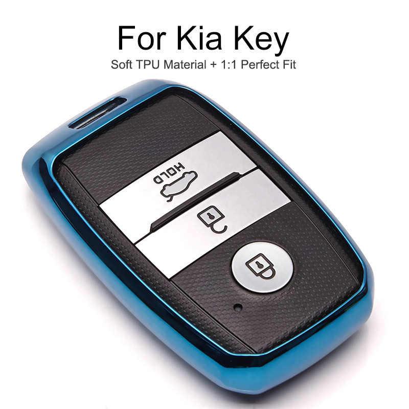 TPU obudowa kluczyka do samochodu Case Cap dla KIA Rio x linia 2 3 4 K2 Sportage 4 Cerato Ceed Forte K3 Optima K5 2019 breloczek pierścień dodatki
