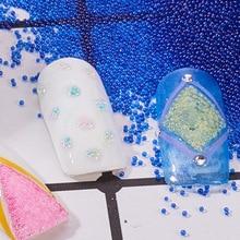8 Colors 1 Box Caviar Nail Art Beads Rhinestone for Nails Micro Nai Crystal Ball 3D Decorations