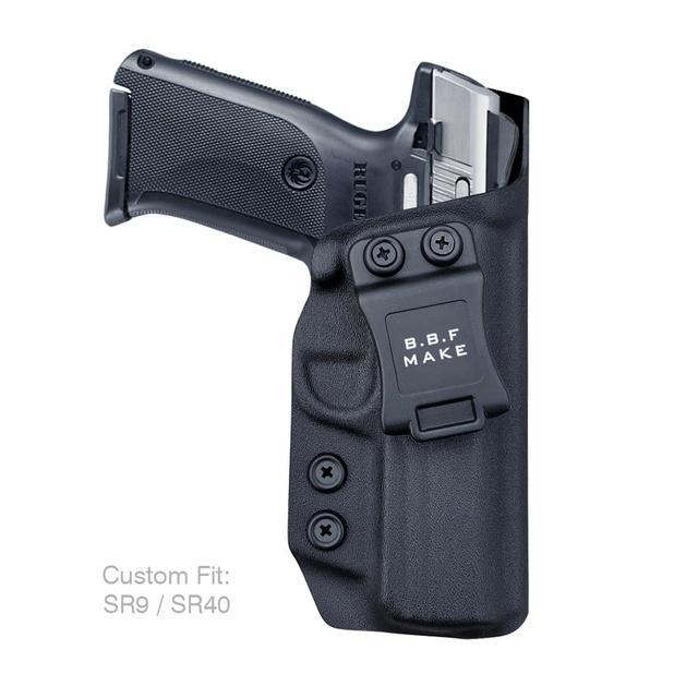 B.B.F Make IWB Kydex Gun Holster for Ruger SR9 / SR9C / SR40 / SR40C Pistol - Inside Waistband Concealed Carry Case 1