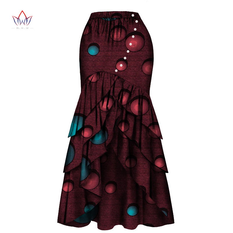 New African Skirts For Women Long Maxi Skirt For Women Plus Size African Women Clothis One Piece Lady Clothes 4xl Natural Wy4570