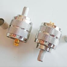 Разъем PL259 PL-259 SO239 SO-239 UHF мужской обжим для LMR195 RG58 RG142 RG223 RG400 кабель RF коаксиальные адаптеры