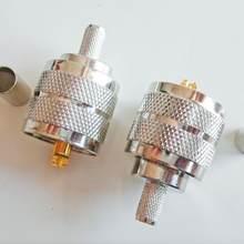 Conector soquete pl259 PL-259 so239 so-239 uhf friso masculino para lmr195 rg58 rg142 rg223 rg400 cabo rf adaptadores coaxiais
