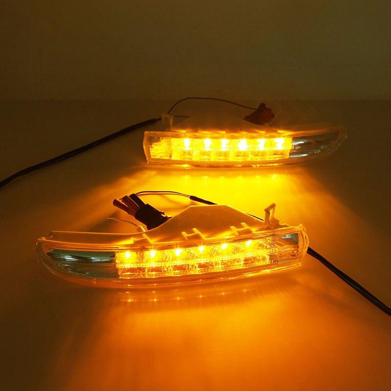 Para Volkswagen CC 11-14 años Amarillo Blanco doble color lámpara de calle los términos están dedicados a CC LED la lámpara de calle de acondicionamiento