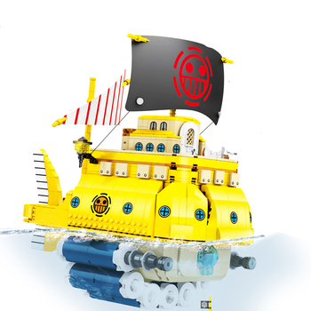 New 1214pcs One Piece Movie Series Polar Diving Pirate Ship Compatible Lepining Ideas Building Blocks Toys for Children Gift