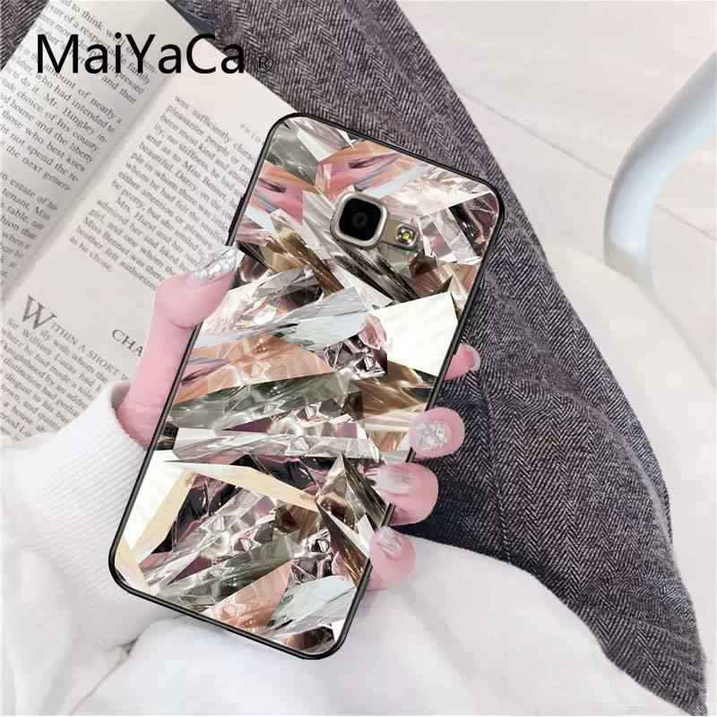 Maiyaca ouro rosa glitter impressão silicone macio tpu telefone capa para samsung a8plus 2018 9s 920 10s 20s 10 40 20 30 50 capa