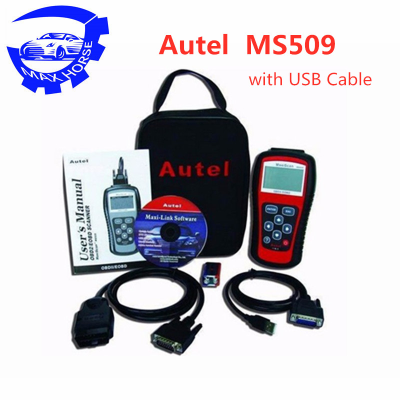 Ms509 Obdii/eobd lecteur de Code Autel Maxiscan Ms509 couverture du Scanner automatique (états-unis, asie et europe) Ms 509