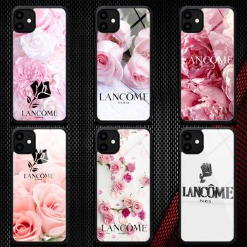 French Cosmetics Lancome Pink Phone Case Rubber For IPhone 12 11 Pro Max XS 8 7 6 6S Plus X 5S SE 2020 XR 12Mini Case image