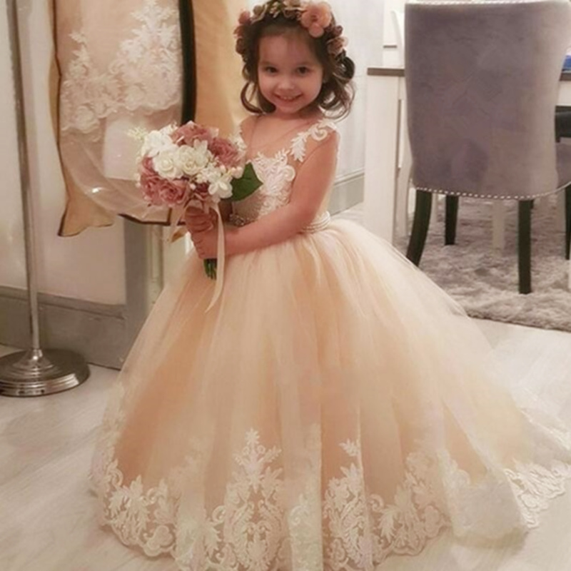 Fleur fille robes enfant Tutu robe princesse
