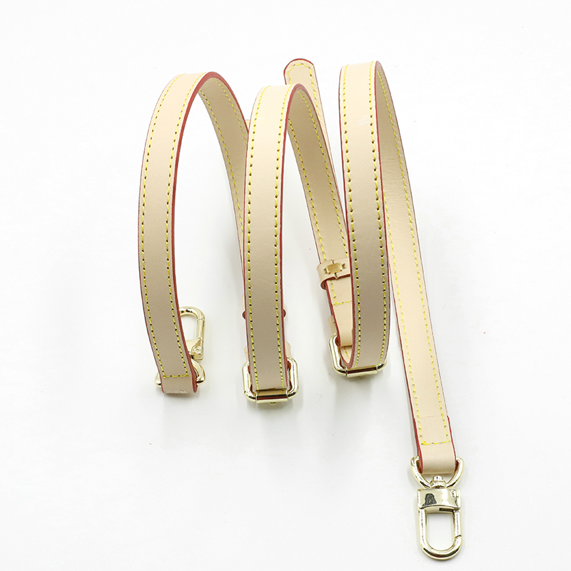Vegetable Tanned Leather Bag Strap Gold Buckle Handbag Strap Shoulder Replacement Parts Bag Belts Three-layer Handles For Women