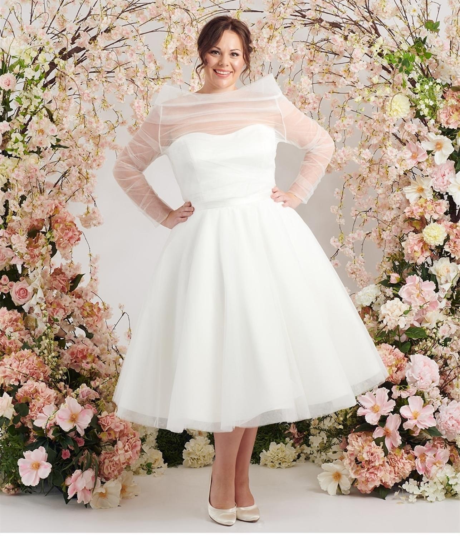 Short Wedding Dresses Ball Gown 18For Bride Knee Length ...