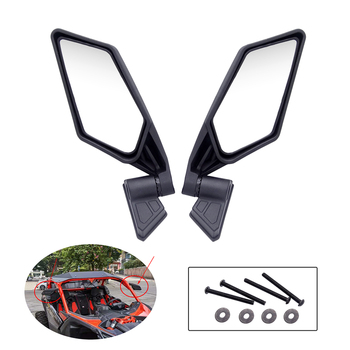 1 Pair Motorcycle Rearview Side Mirrors  Racing Motorcycle Rearview Side Mirrors For Can-Am UTV Off-road Maverick X3 MAX SSP