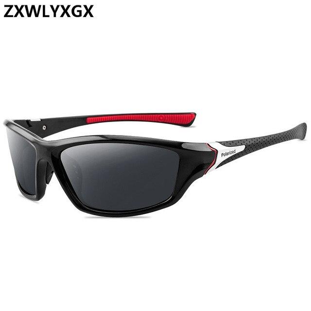 Black lens polarized sunglasses for men