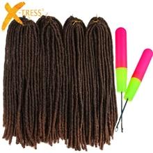X-TRESS 18-26 дюймов мягкие дреды вязаные крючком косички Jumbo Dread прическа Ombre цвет синтетический искусственный Locs плетение волос