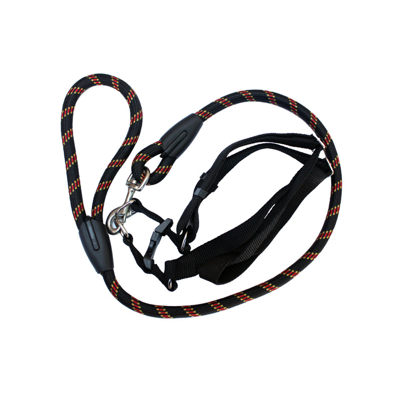Pet Puppy Lanyard Small Chain Dogs Hand Holding Rope Big Dog Chest And Back In Large Round Lanyard Sling Chinlon Unscalable