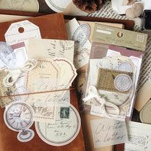 Dimi 30 unidades/pacote criatividade do vintage nota papel diy scrapbooking journaling material decorativo pacote de papel papelaria escola