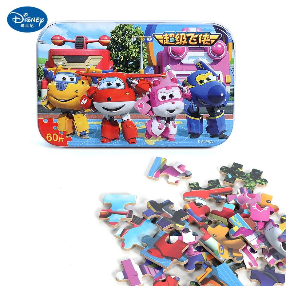 Disney 60 Piece Princess Frozen Wooden Box Puzzle Early Education Children Bottom Box Puzzle Birthday Toys Intelligence Puzzle 18
