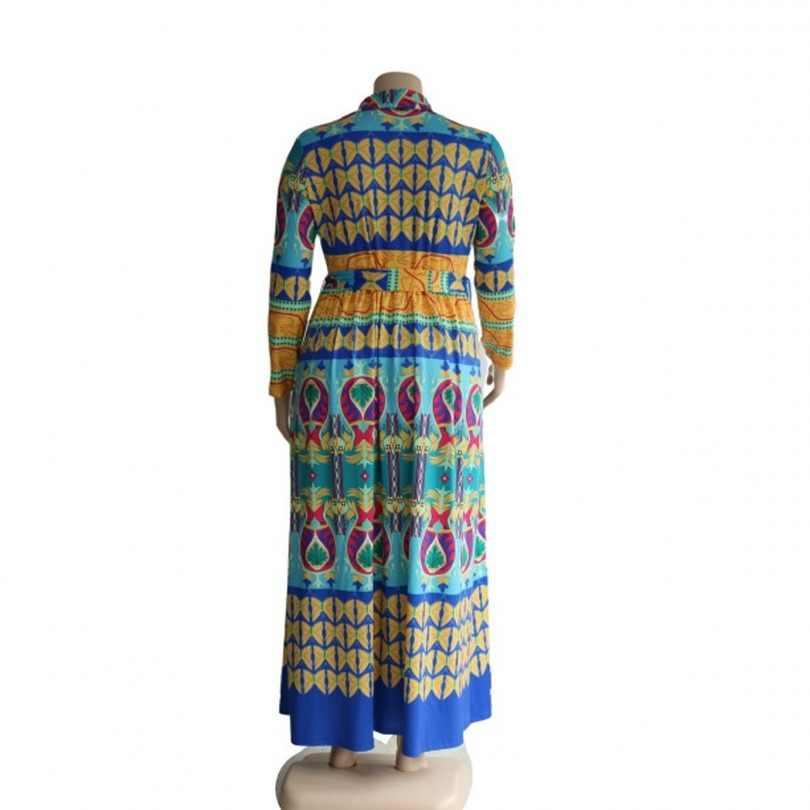 Sukienki afrykańskie dla damska suknia Africaine 2019 ubranie afrykańskie Dashiki modny nadruk tkaniny długa, maksi sukienka odzież z afryki