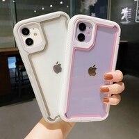 Funda de teléfono transparente a prueba de golpes para iPhone, carcasa trasera a prueba de golpes para iPhone 12 Pro Max 11 12 Mini XR XS Max X 7 8 Plus 12 11 Pro