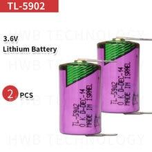 2 шт. для TADIRAN ER14250 TL-5902 SL350/750 TL-2150 1/2AA 3,6 V литиевые батареи для ПЛК с филе