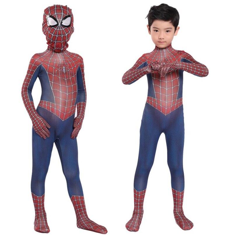 Детский Человек-паук raimi Косплей костюмы Боди Комбинезоны Человек-паук raimi костюмы на Хэллоуин костюм Человека-паука